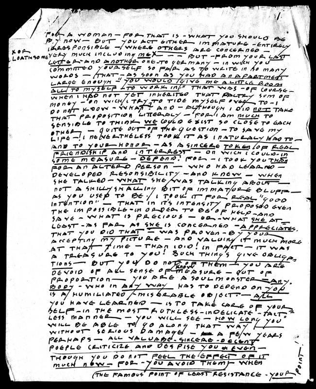 Letter to Bernice Abbott